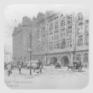 The Midland Hotel, Manchester, c.1910 Square Sticker