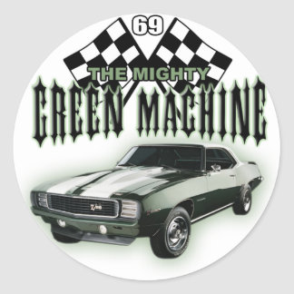 The Mighty Green Machine Classic Round Sticker