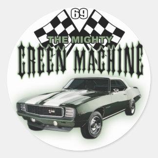 The Mighty Green Machine Classic Round Sticker