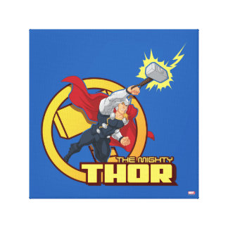 The Mighty Thor Character Graphic Canvas Print