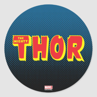 The Mighty Thor Logo Classic Round Sticker