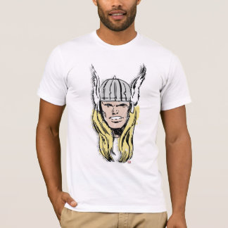 The Mighty Thor Retro Comic Halftone Head T-Shirt