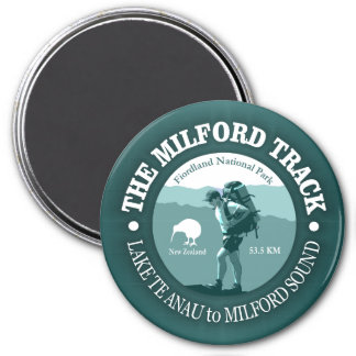 The Milford Track 7.5 Cm Round Magnet
