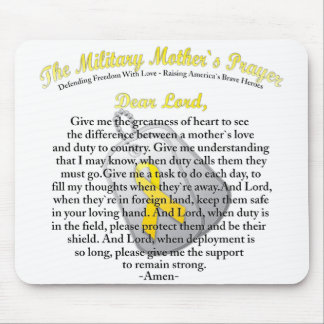 The Military Mother`s Prayer Mousepad
