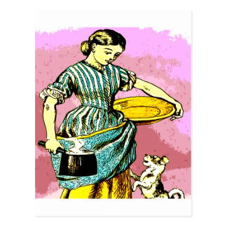 the Milk Maid Postcard