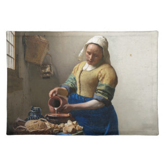 The Milkmaid by Johannes Vermeer Placemat