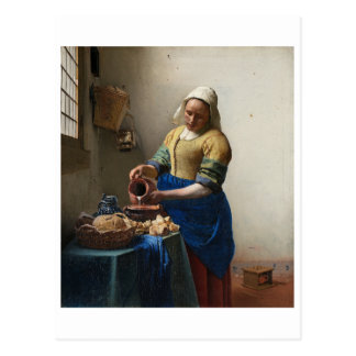 The Milkmaid by Johannes Vermeer Postcard