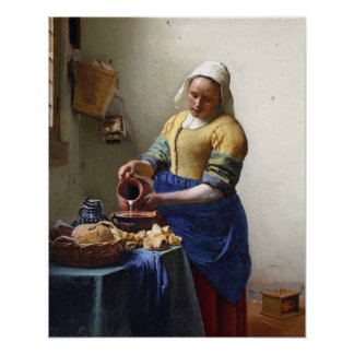 The Milkmaid, c.1658-60 (oil on canvas) Poster