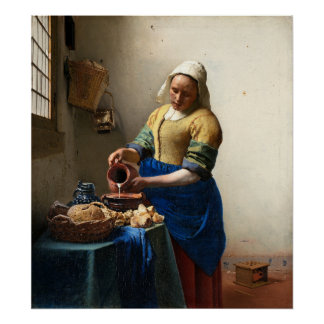 The Milkmaid, Jan Vermeer Poster