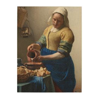 The Milkmaid Wood Canvas