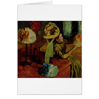 The Millinery Shop- Degas Card