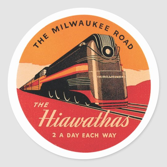 The Milwaukee Road Round Sticker