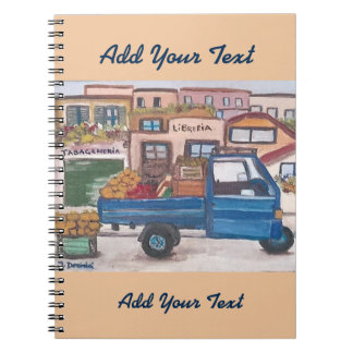 The mini market truck - Notebook