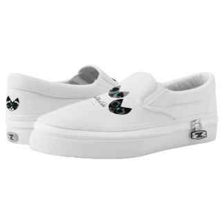 The Minimal Kitty Cat Ladies Slip-On Shoes