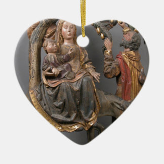 The Miracle of the Palm Tree on the Flight Egypt Ceramic Heart Decoration
