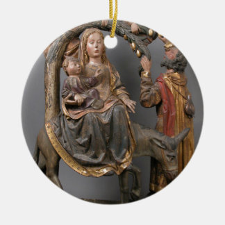 The Miracle of the Palm Tree on the Flight Egypt Round Ceramic Decoration