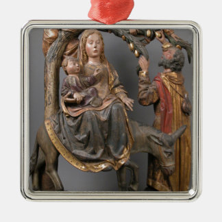 The Miracle of the Palm Tree on the Flight Egypt Silver-Colored Square Decoration