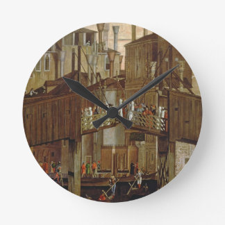 The Miracle of the Relic of the Holy Cross, detail Clock