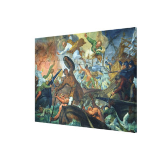 The Miraculous Intervention of SS Peter and Paul i Gallery Wrap Canvas