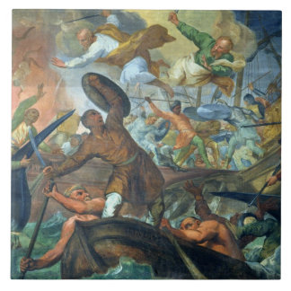 The Miraculous Intervention of SS Peter and Paul i Large Square Tile
