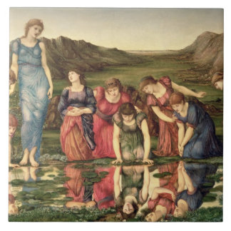 The Mirror of Venus, 1870-76 (oil on canvas) Large Square Tile
