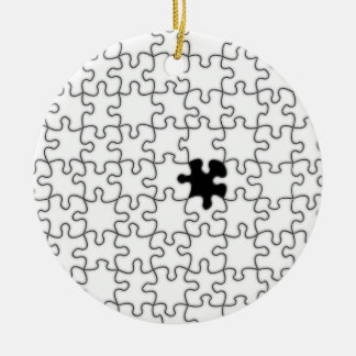 The Missing Puzzle Piece Background Template Round Ceramic Decoration