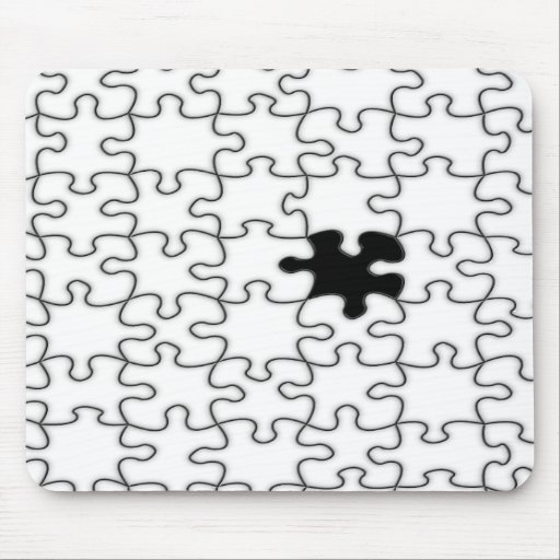 The Missing Puzzle Piece Background Template Mouse Pad