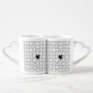 The Missing Puzzle Piece Pattern Coffee Mug Set