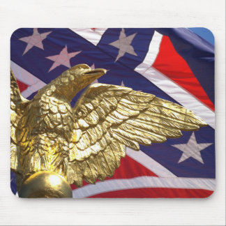 The Mississippi State flag and golden eagle Mouse Pad