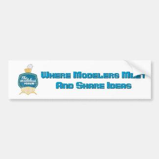 The Modelers Forum Sticker Bumper Sticker