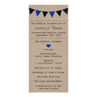 The Modern Blue Bunting Wedding Collection 10 Cm X 23 Cm Rack Card