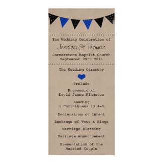 The Modern Blue Bunting Wedding Collection Rack Card