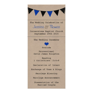 The Modern Blue Bunting Wedding Collection Rack Card Template