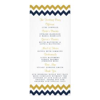 The Modern Chevron Wedding Collection- Navy & Gold Custom Rack Card