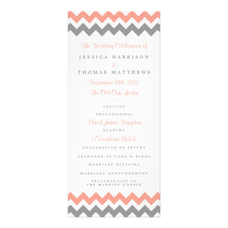 The Modern Chevron Wedding Collection- Pink & Grey Full Colour Rack Card