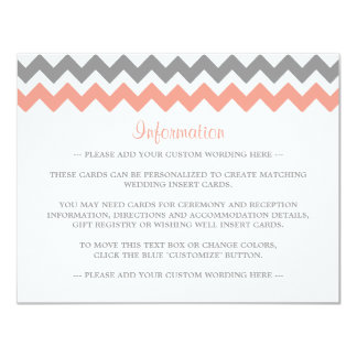The Modern Chevron Wedding Collection- Pink & Grey 11 Cm X 14 Cm Invitation Card