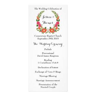 The Modern Floral Wreath Wedding Collection 10 Cm X 23 Cm Rack Card