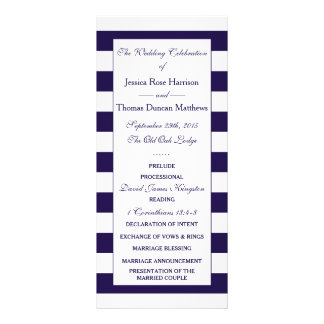 The Modern Navy Stripe Wedding Collection Customized Rack Card
