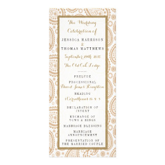 The Modern Paisley Wedding Collection - Brown Personalized Rack Card