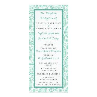 The Modern Paisley Wedding Collection - Green Rack Card Design