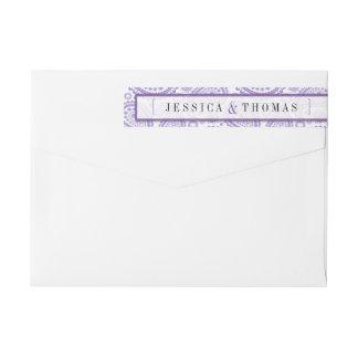 The Modern Paisley Wedding Collection - Purple Wraparound Return Address Label
