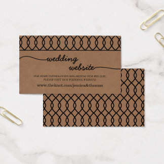 The Modern Whimsical Kraft Wedding Collection Business Card