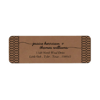 The Modern Whimsical Kraft Wedding Collection Return Address Label