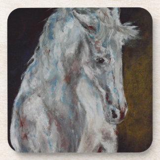 The Modern White Blue Horse Coaster