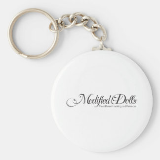 The Modified Dolls Fancy Logo Basic Round Button Key Ring