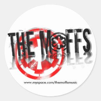 The Moffs Myspace... Round Sticker