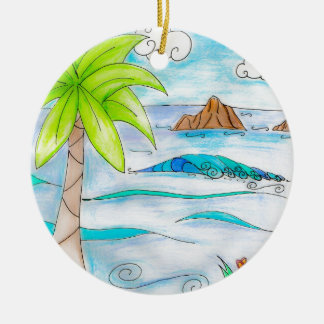 The Moks - Mokulua Islands Hawaii Ceramic Ornament