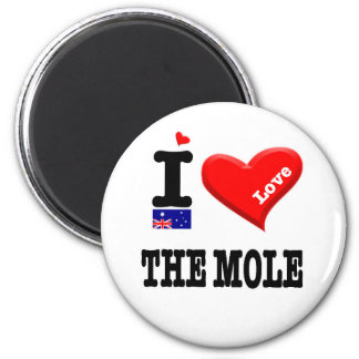 THE MOLE - I Love 6 Cm Round Magnet