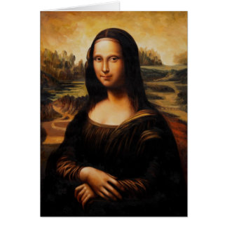 The Mona Lisa by Leonardo Da Vinci Card