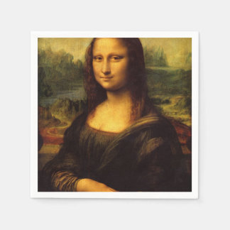 The Mona Lisa Disposable Napkin